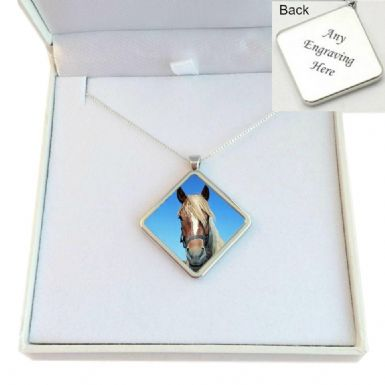 Pet Loss Necklace with Photo, Sterling Silver Chain | Someone Remembered